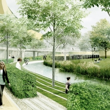 Illustration of Campus Albano Credit: Stadsbyggnadskontoret Stockholm (The Stockholm City Planning Office).